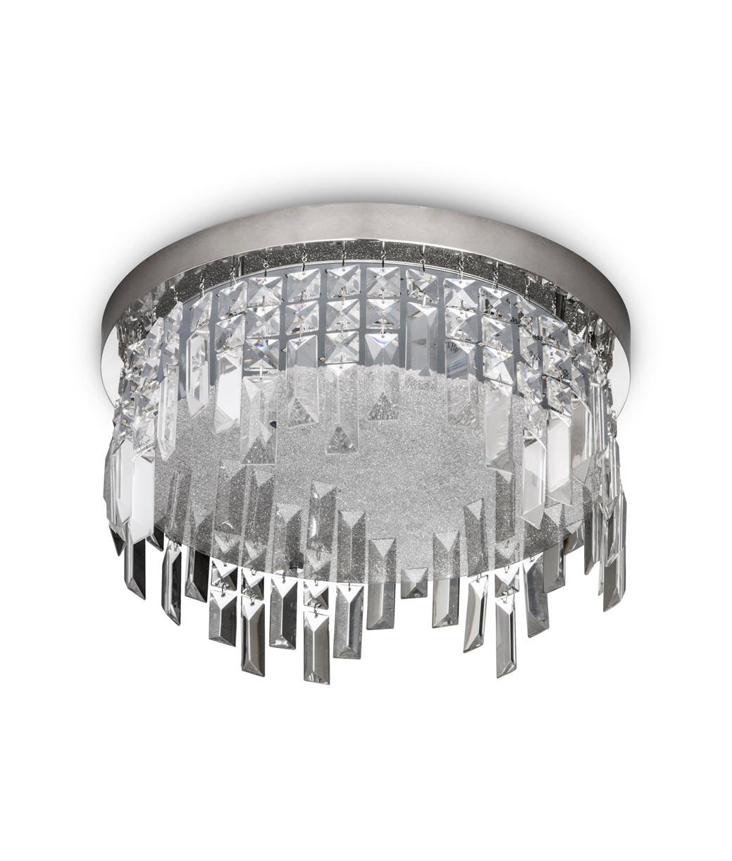 Plafón cristal circular KAWAI LED detalle 2 - La Casa de la Lámpara