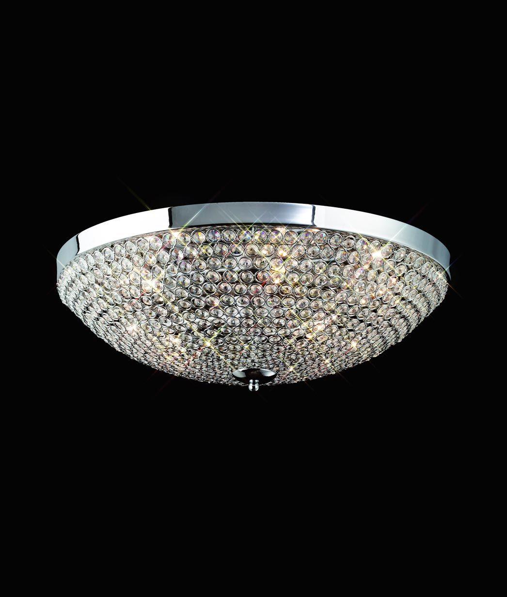 DESCATALOGADO Plafón grande 9 luces CRYSTAL BALLS
