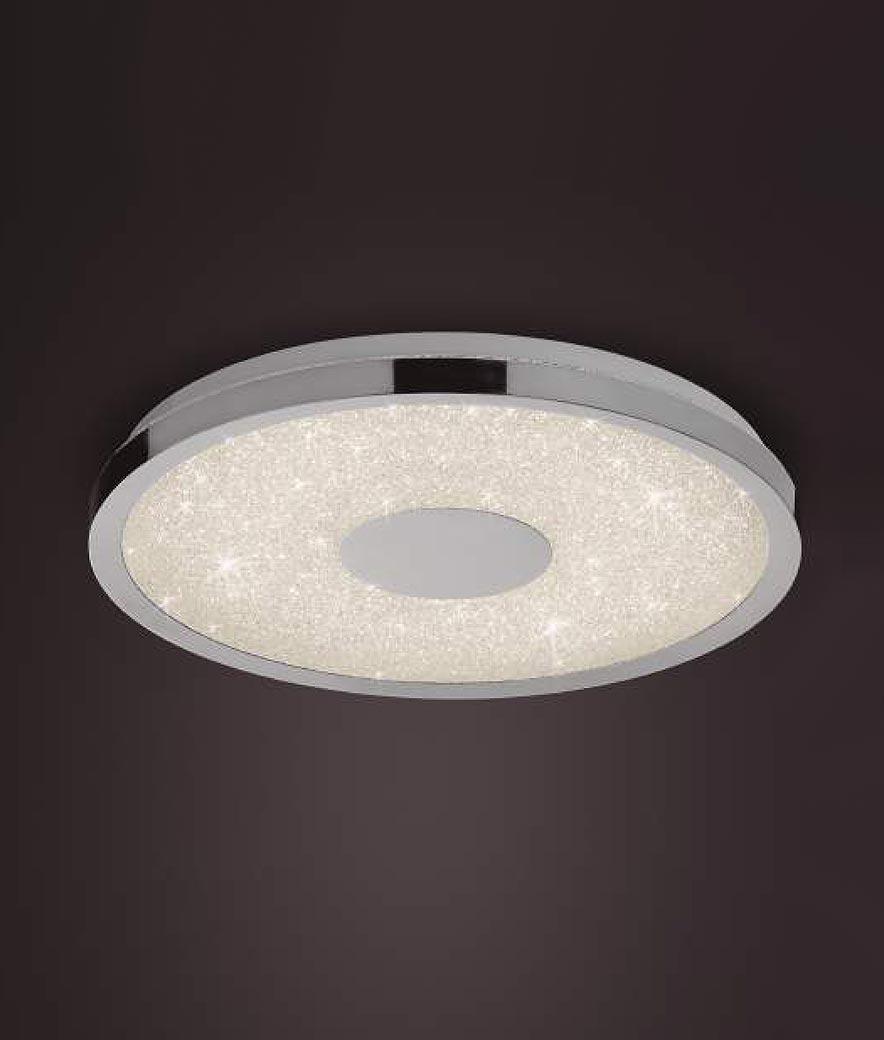 Plafón grande cromo con mando CENTARA LED