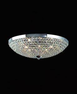 Plafón mediano 6 luces CRYSTAL BALLS