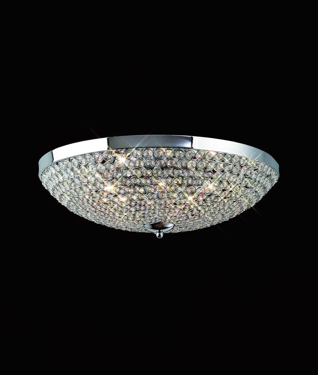 DESCATALOGADO Plafón mediano 6 luces CRYSTAL BALLS