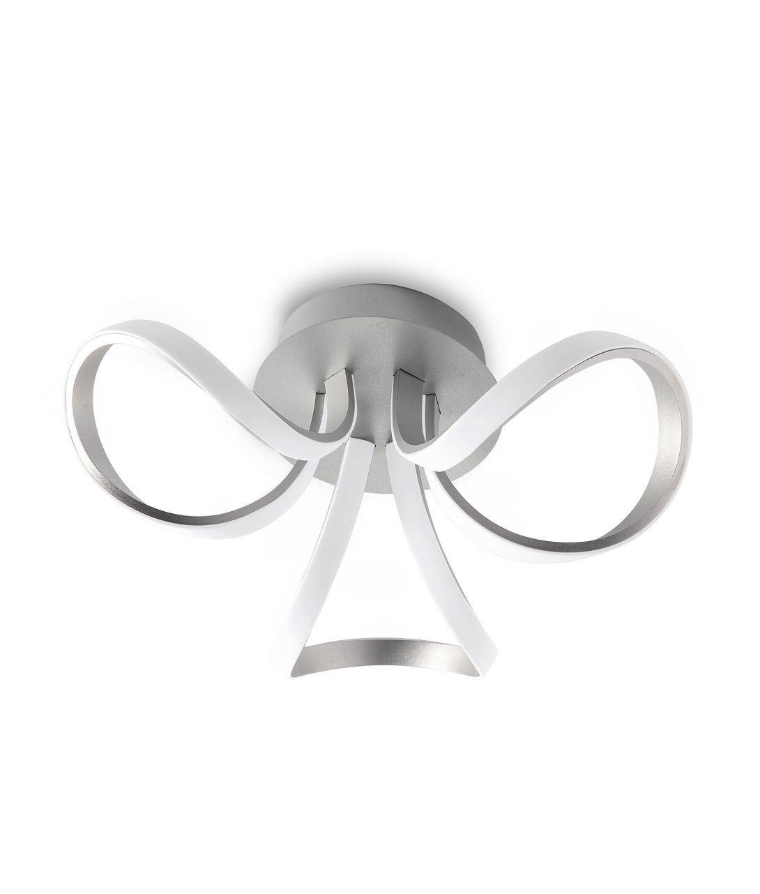 Plafón techo dimmable plata KNOT LED