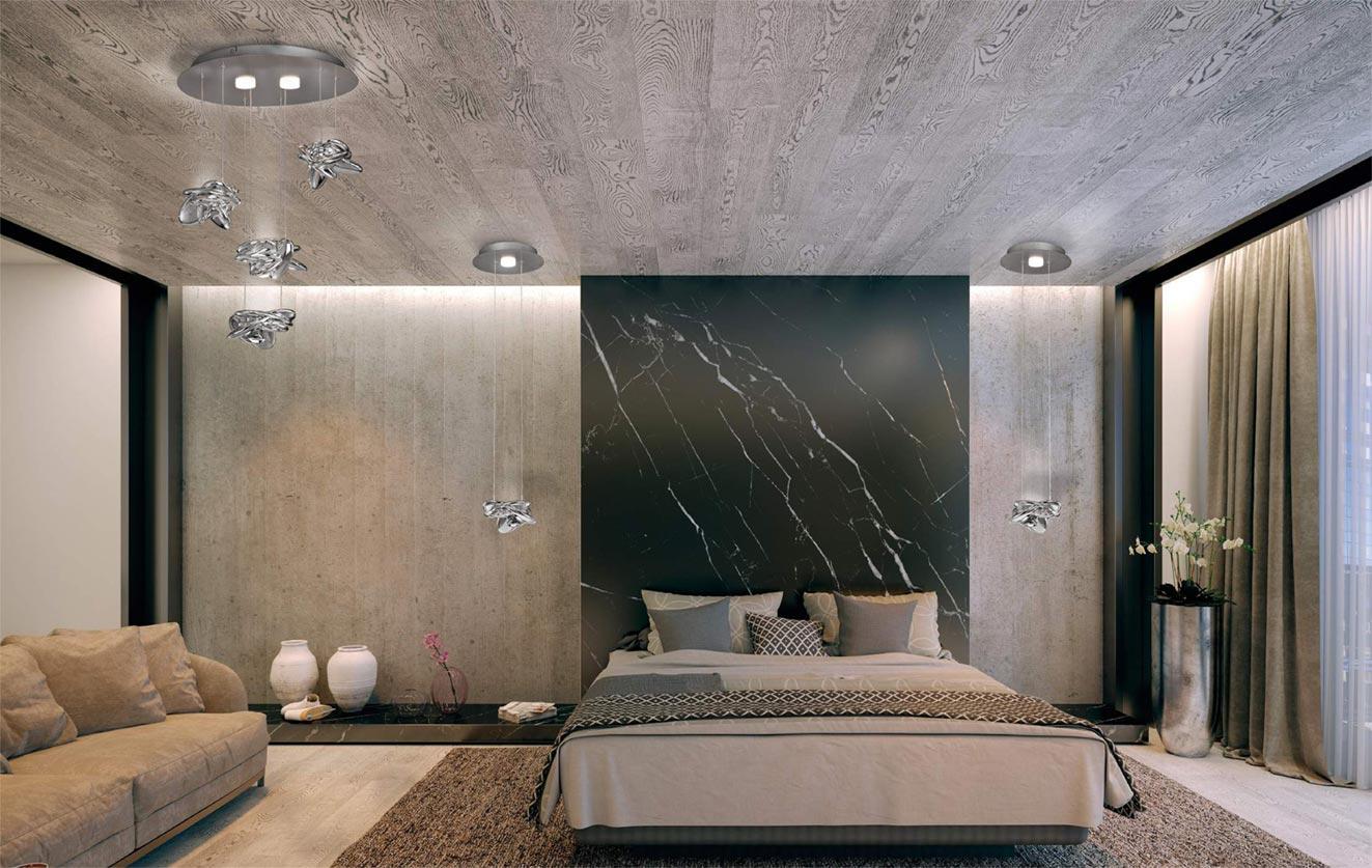 Colgante techo elegante NIDO LED ambiente