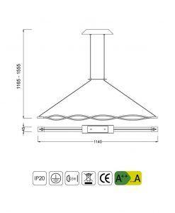 Medidas lámpara de techo SAHARA