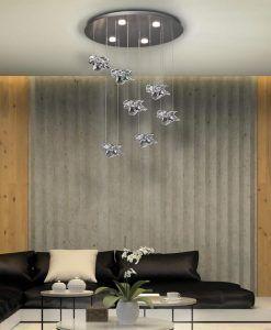 Lámpara elegante techo NIDO LED ambiente