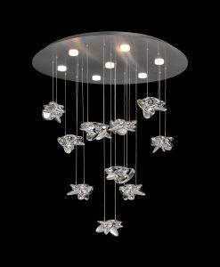 Lámpara techo elegante cromo níquel NIDO LED