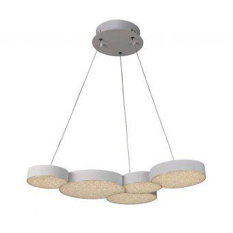 Luminaria blanca moderna LUNAS LED