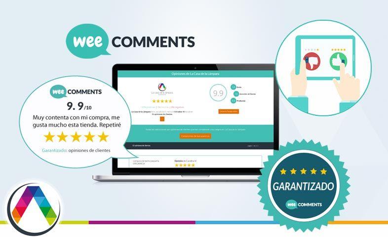 Opiniones reales de clientes 100% garantizado con Wee Comments en La Casa de la Lámpara