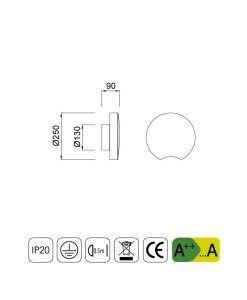 Medidas plafón circular moderno LUNAS LED