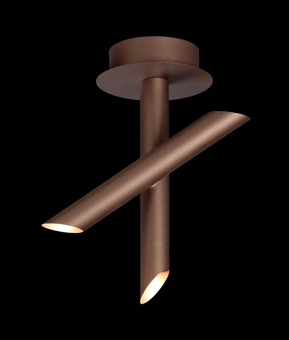 Plafón LED minimalista bronce TAKE