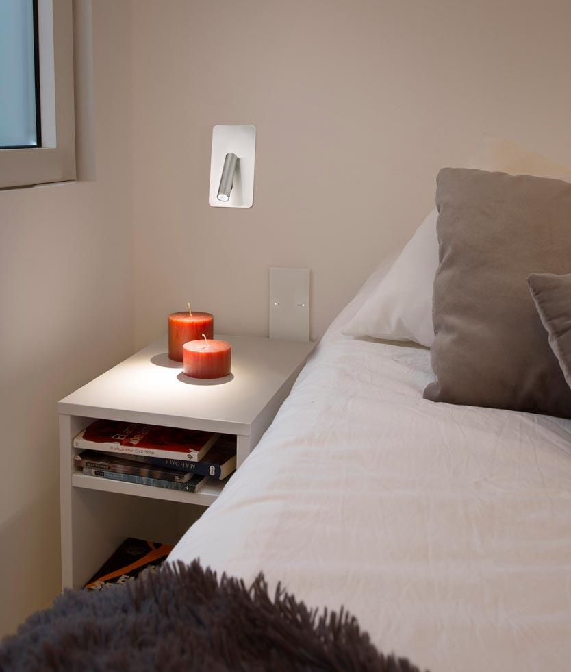 Aplique empotrable níquel SUAU LED ambiente