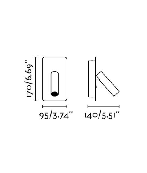 Medidas aplique empotrable níquel SUAU LED