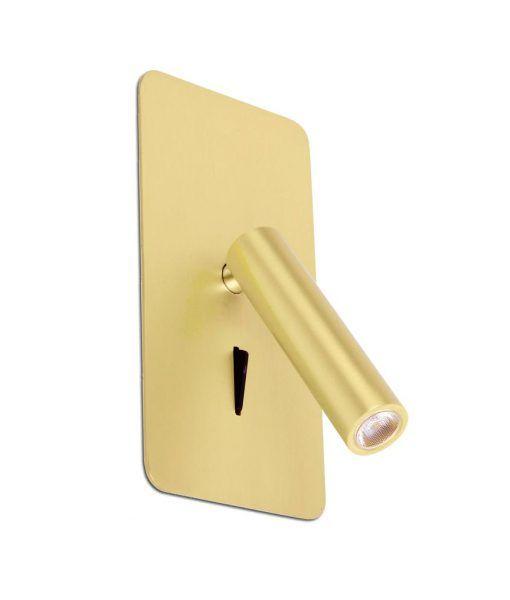 Aplique empotrable oro satinado SUAU LED