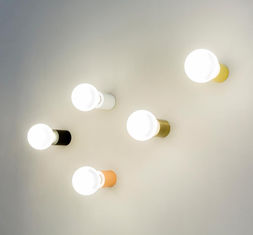 Aplique o plafón minimalista blanco mate TEN ambiente