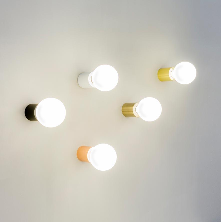 Aplique o plafón minimalista oro satinado TEN ambiente