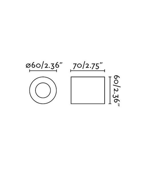Medidas aplique o plafón minimalista oro satinado TEN