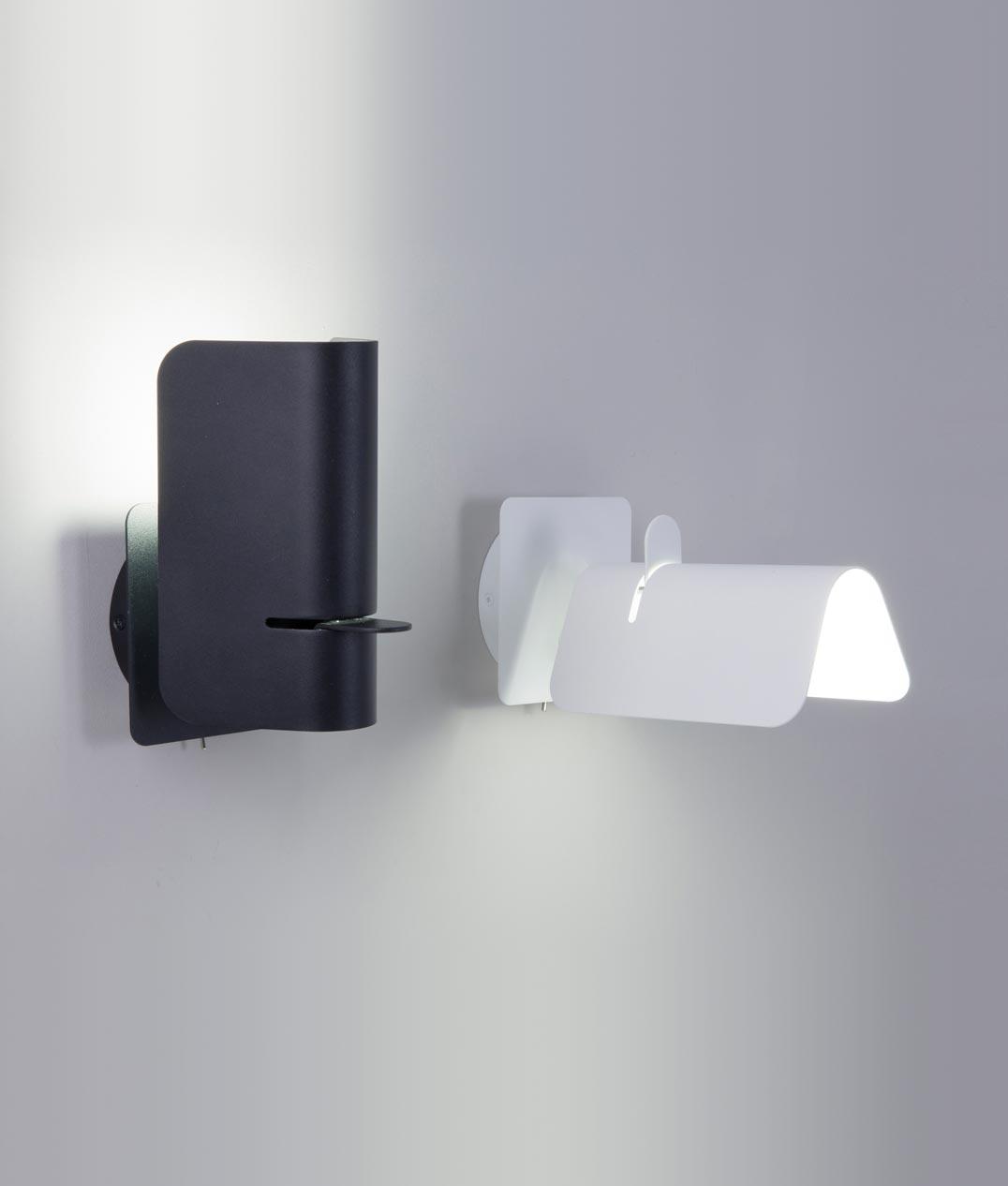 Lámpara aplique original negro SMILE detalle