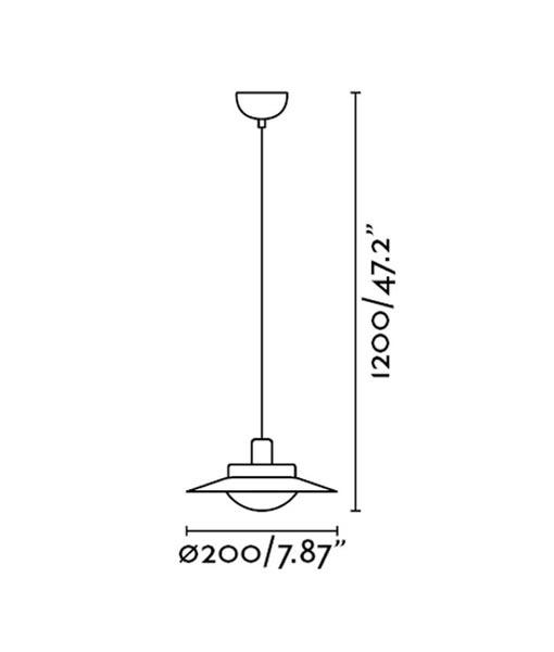 Medidas lámpara blanca para el techo SIDE LED