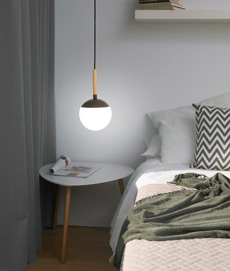 Lámpara colgante gris MINE ambiente 2