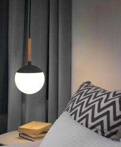 Lámpara colgante gris MINE ambiente