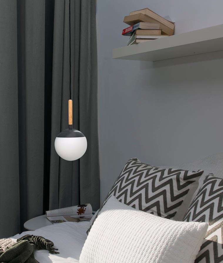 Lámpara colgante gris MINE ambiente 3