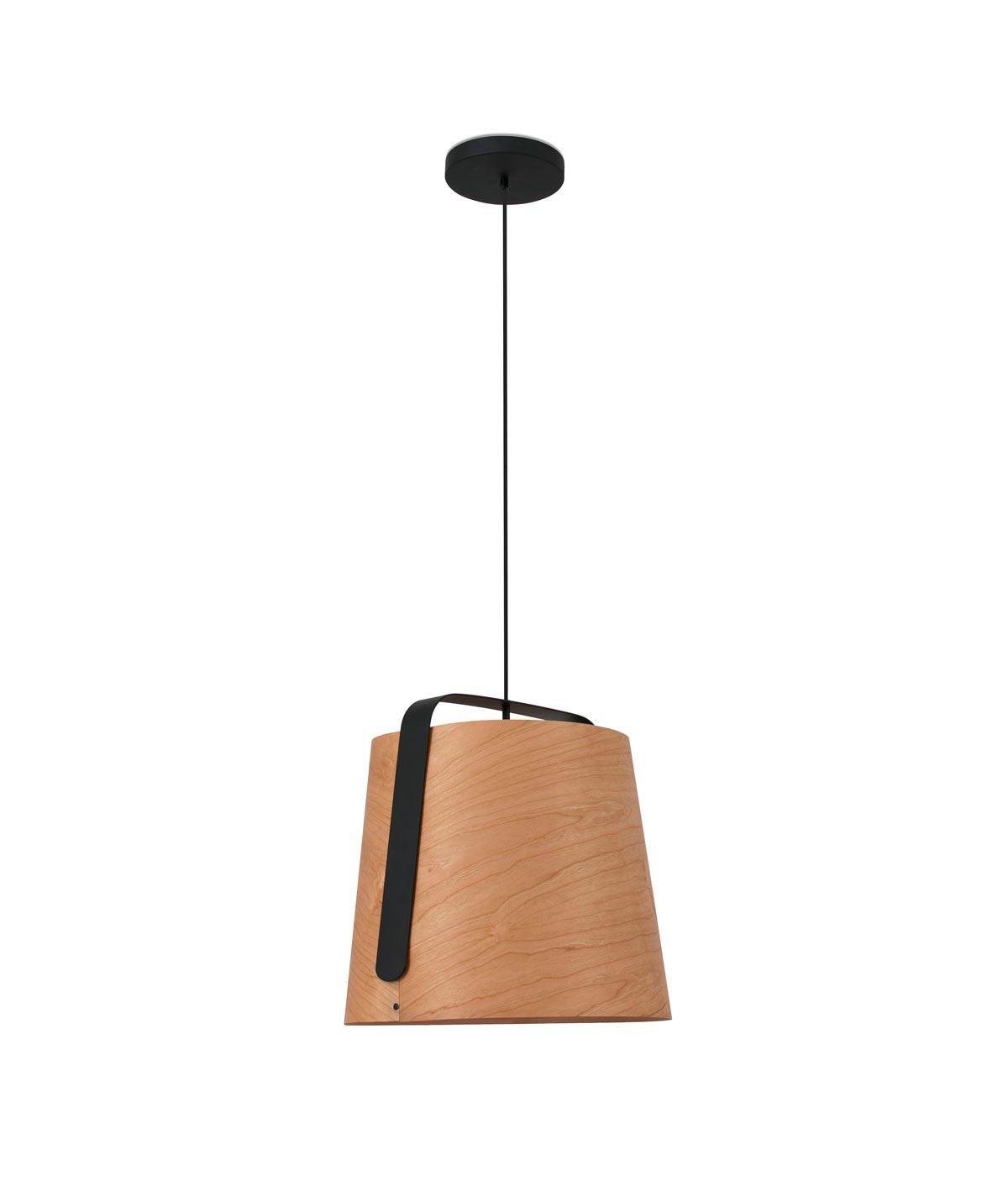 Lámpara comedor madera y negro STOOD