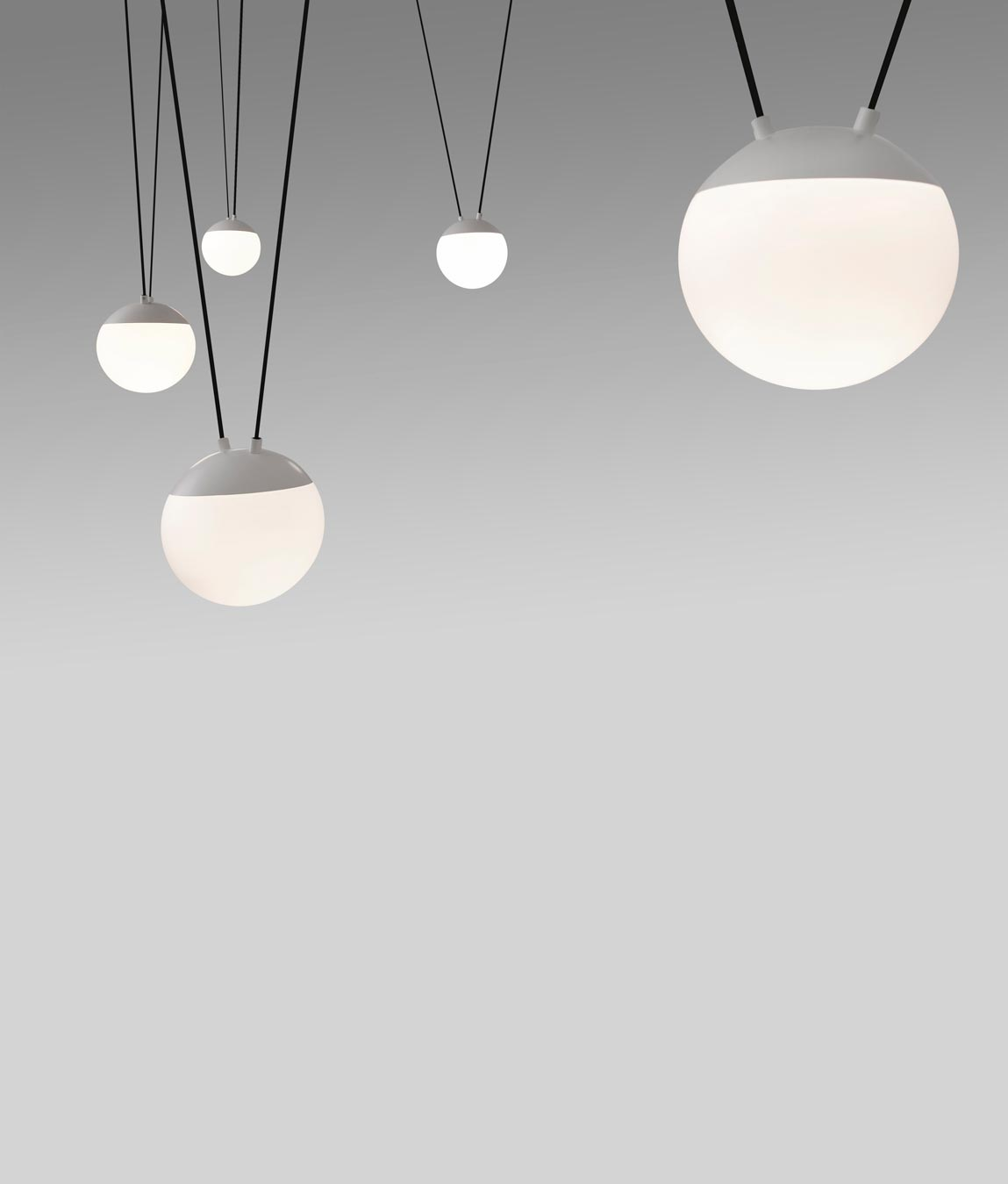 Lámpara de techo blanca 5 luces MINE detalle