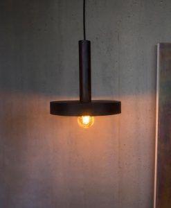 Lámpara de techo negra y oro satinado WHIZZ ambiente 3