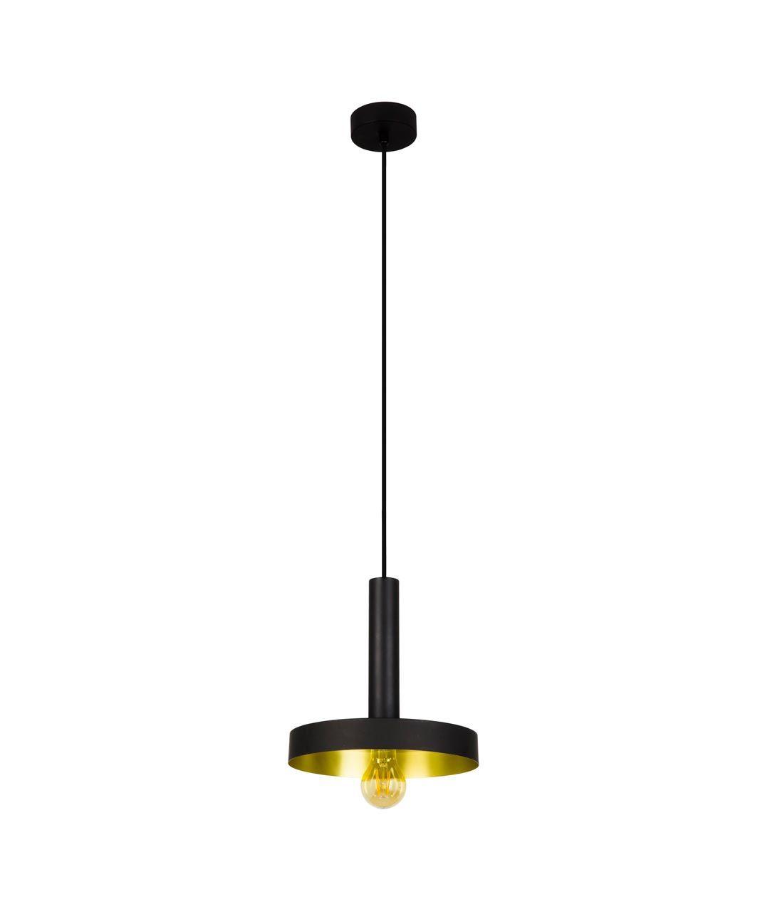 Lámpara de techo negra y oro satinado WHIZZ