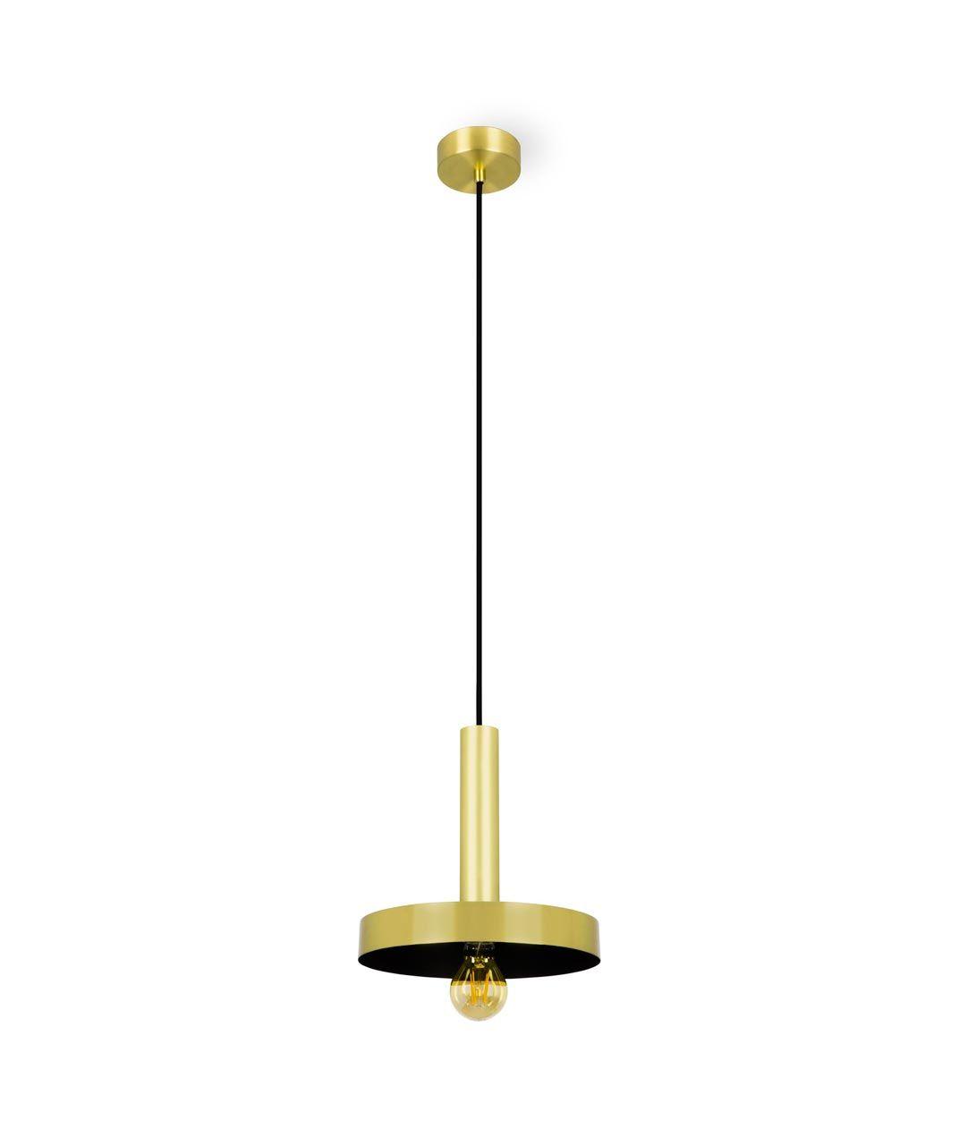 Lámpara de techo oro satinado y negra WHIZZ