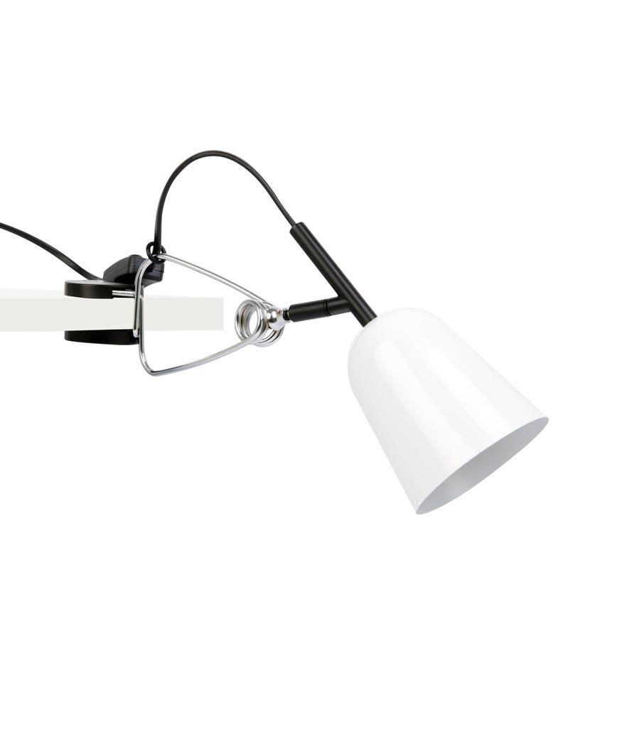 Lámpara flexo soporte pinza blanco STUDIO