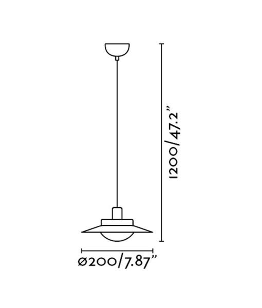Medidas lámpara negra y cobre SIDE LED