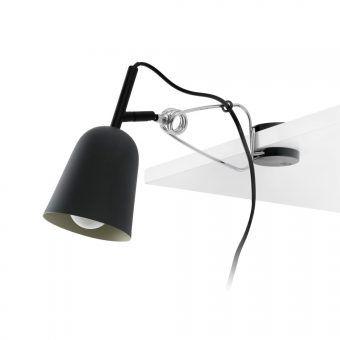 Lámpara pinza negra y crema STUDIO