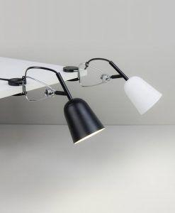 Lámpara pinza negra y crema STUDIO ambiente
