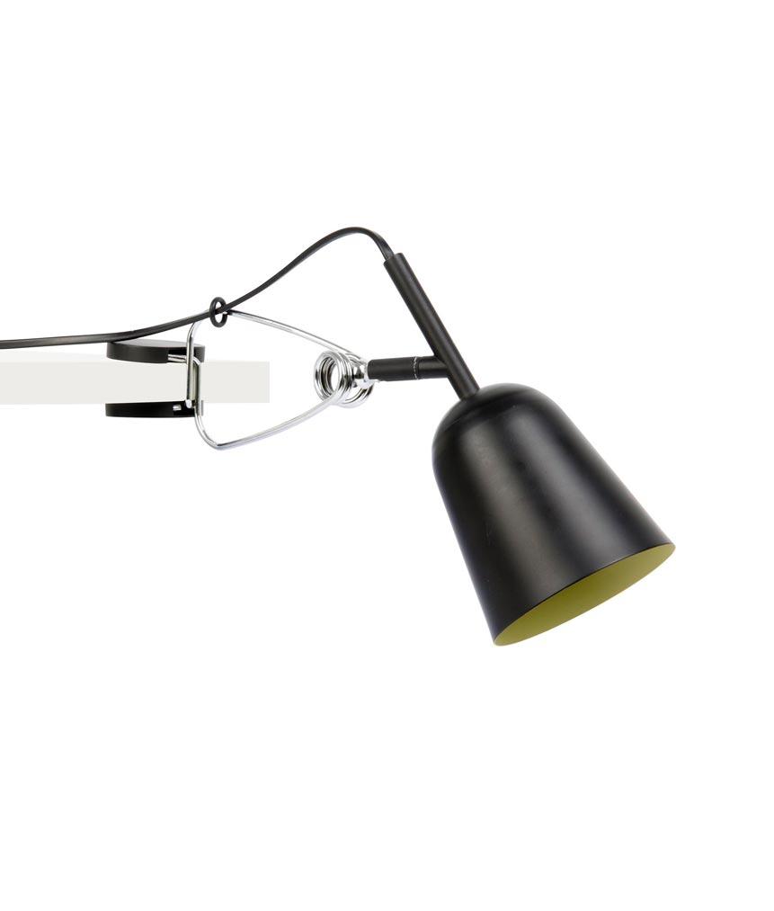 Lámpara pinza negra y crema STUDIO detalle