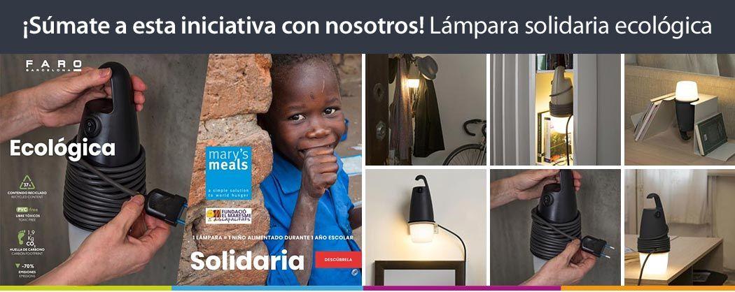 Lámpara solidaria ecológica Hook de Faro Barcelona