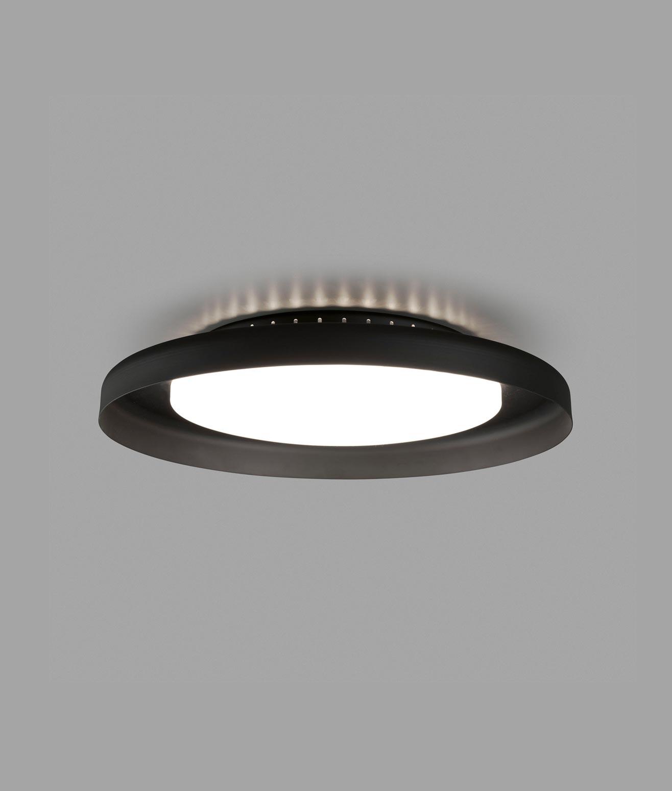 Luminaria plafón negro DOLME LED detalle