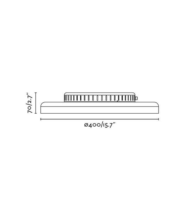 Medidas plafón blanco DOLME LED