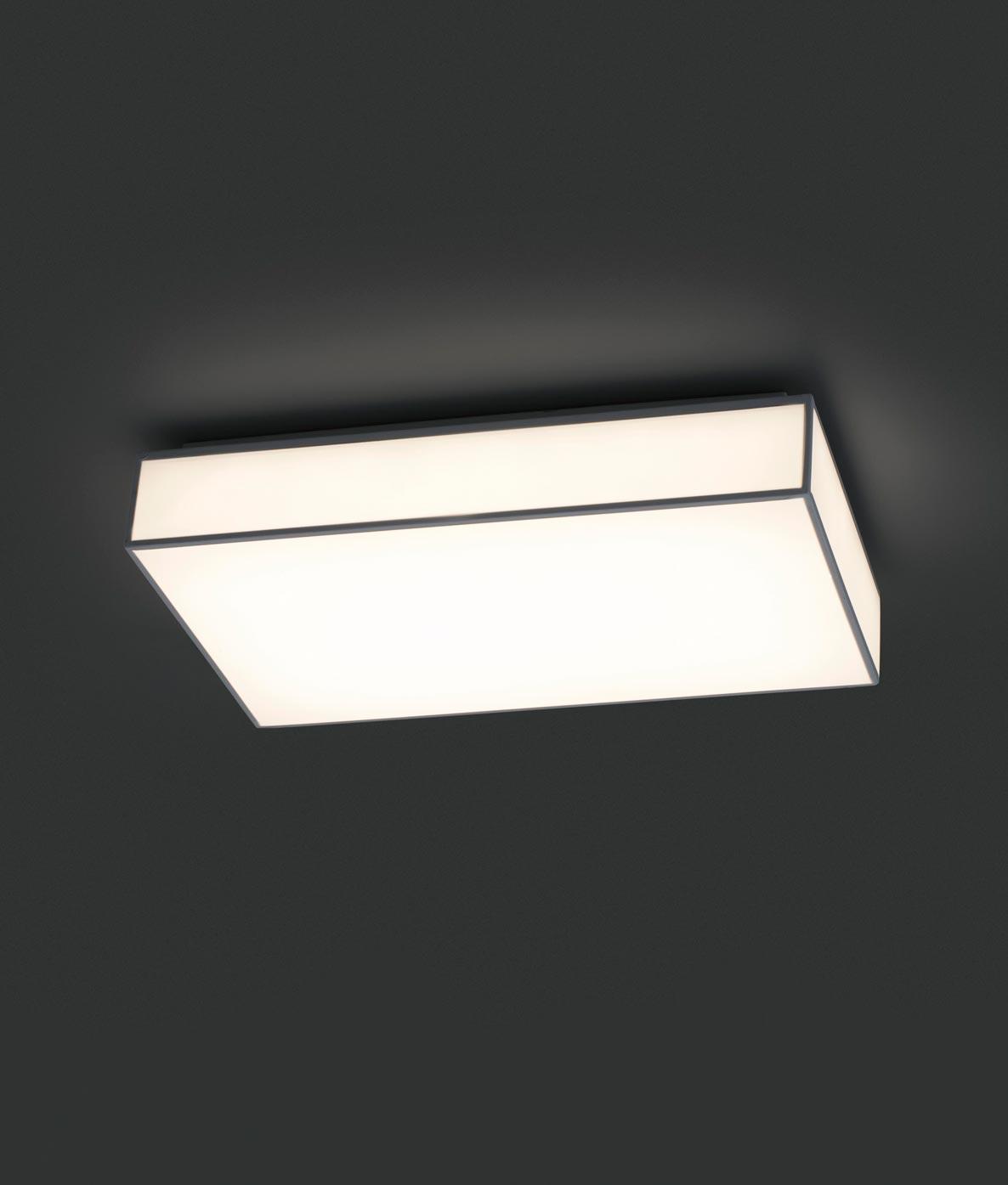 Plafón color blanco SILK-1 LED detalle