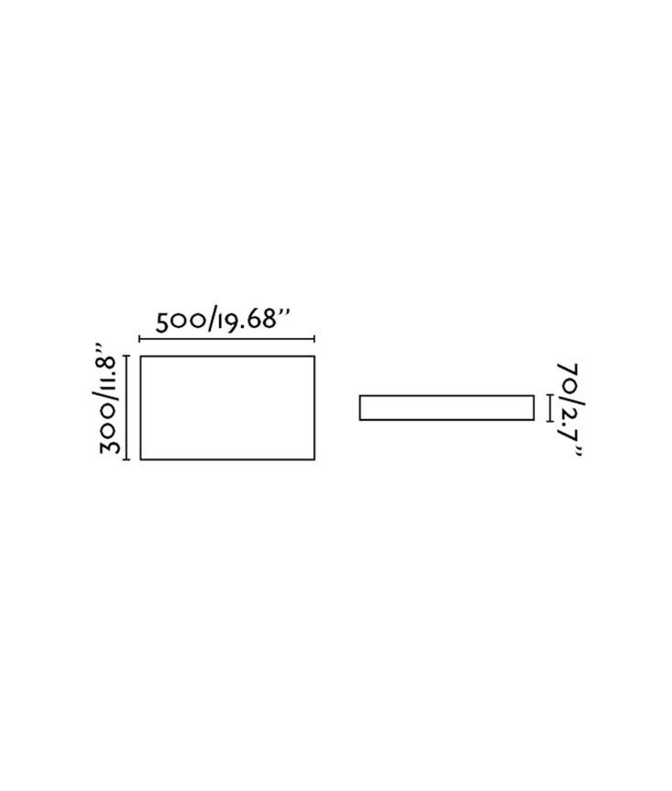 Medidas plafón color blanco SILK-1 LED