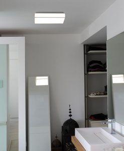 Plafón cuadrado blanco SILK-4 LED ambiente