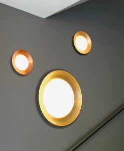 Plafón grande negro y oro 20W SIDE LED ambiente