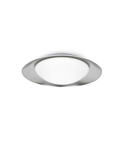 Plafón mediano blanco y níquel SIDE LED 15W