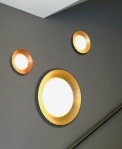 Plafón pequeño negro y cobre SIDE LED ambiente