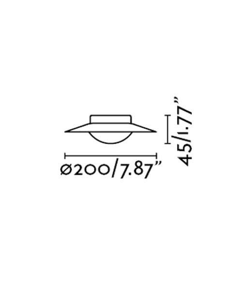 Medidas plafón pequeño negro y cobre SIDE LED