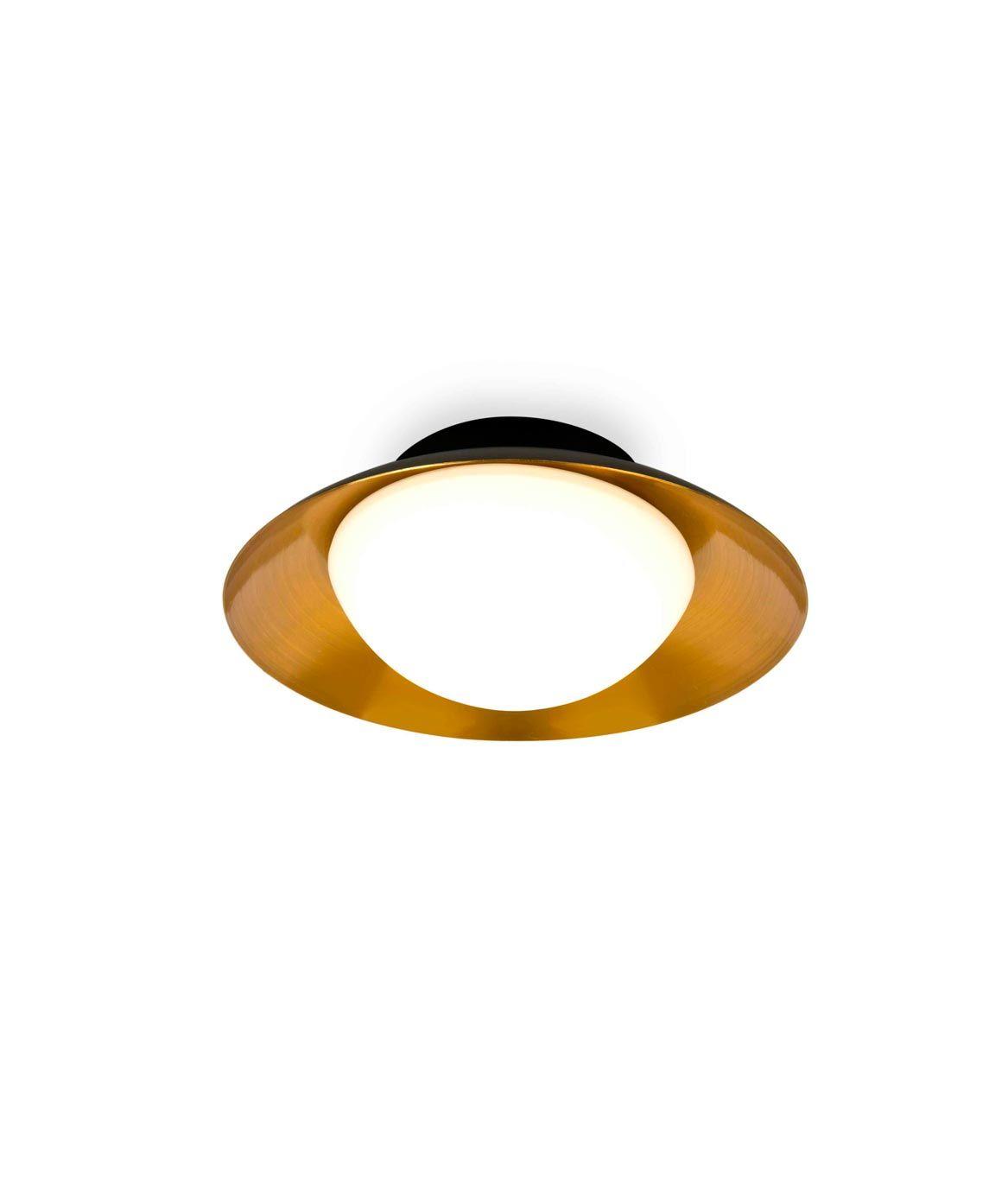 Plafón pequeño negro y cobre SIDE LED