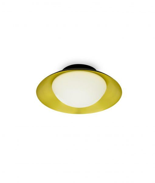 Plafón pequeño negro y oro SIDE LED