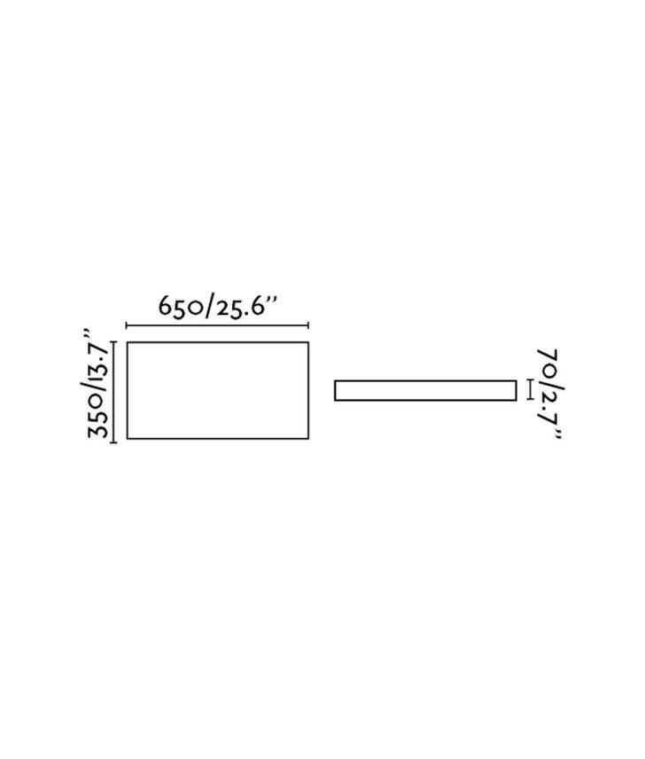 Medidas plafón rectangular blanco SILK-3 LED