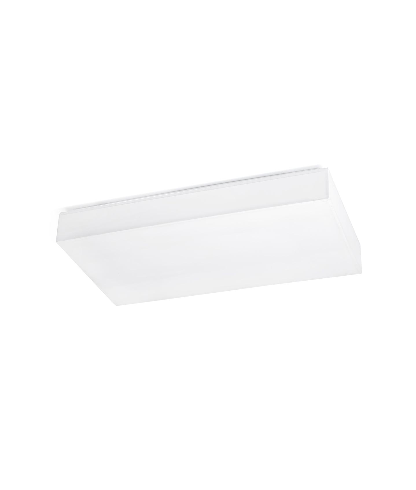 Plaf n rectangular blanco silk 3 led la casa de la l mpara for Plafon led cocina rectangular