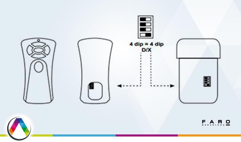 Micro-interruptores del mando de los ventiladores Faro - La Casa de la Lámpara